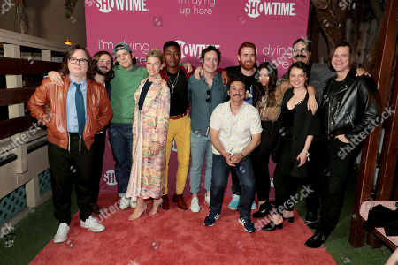 Clark Duke, Michael Angarano, Jake Lacy, Ari Graynor, RJ Cyler, Jon Daly, Al Madrigal, Andrew Santino, Ginger Gonzaga, Stefania LaVie Owen, Erik Griffin and Jim Carrey, Executive Producer,