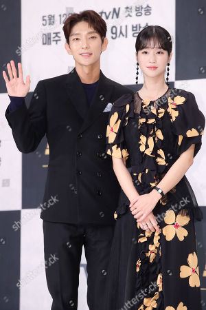 Editorial picture of Stars of new drama Lawless Lawyer media event, Seoul, Korea - 08 May 2018