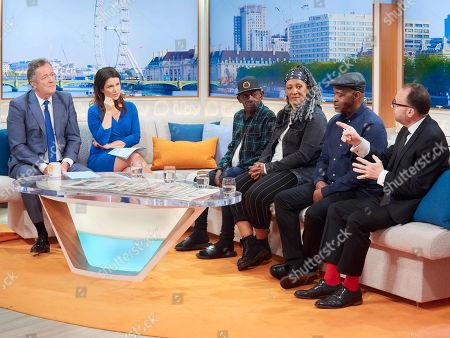 Piers Morgan and Susanna Reid with Clayton Barnes, Samantha Barnes-Garner, Anthony Bryan and Jonathan Shalit