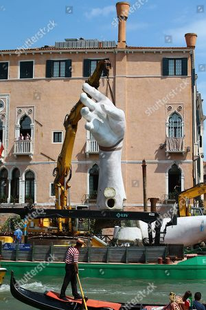 Lorenzo Quinn 'Support' art installation is removed