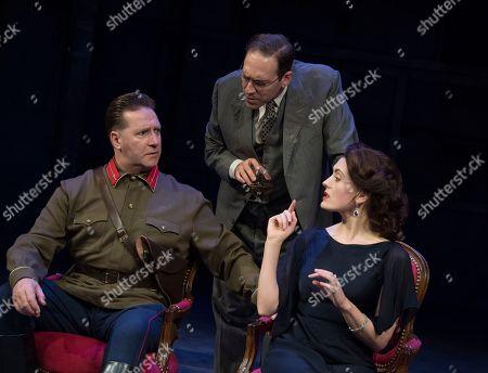 David Birrell as Nikolai, Ben Caplan as Isaac, Rebecca O'Mara as Yevgenia