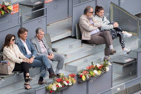 Ion Tiriac, Simona Halep, Manolo Santana, Gerard Tsobanian