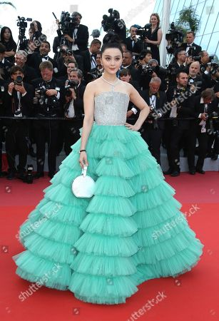 Actress Fan Bing Bing poses for photographers upon arrival at the opening ceremony of the 71st international film festival, Cannes, southern France