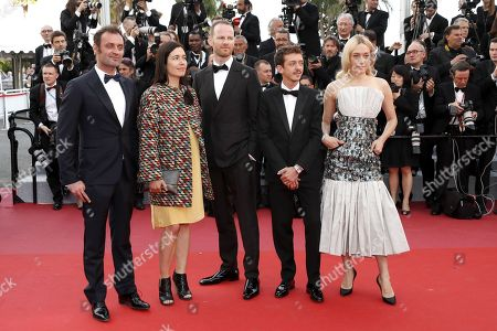 (L-R) The 57th Critic's Week jury, Augustin Trapenard, Eva Sangio, jury head Joachim Trier, Nahuel Perez Biscayart and Chloe Sevigny arrive for the screening of 'Everybody Knows' (Todos Lo Saben) and the Opening Ceremony of the 71st annual Cannes Film Festival in Cannes, France, 08 May 2018. Presented in competition, the movie opens the festival which runs from 08 to 19 May.
