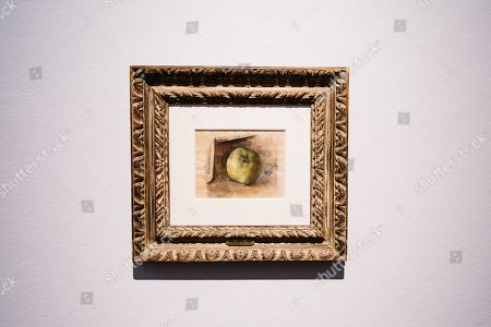 The painting 'Pomme' by Spanish artist Pablo Picasso is on display during the viewing of the Collection of Peggy and David Rockefeller at Christie's auction house in New York, New York, USA, 08 May 2018. The artwork is part of the 'Collection of Peggy and David Rockefeller: 19th and 20th Century Art Evening Sale' that takes place in New York from 08 to 10 May 2018.
