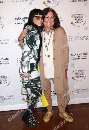 Norma Kamali and Fern Mallis