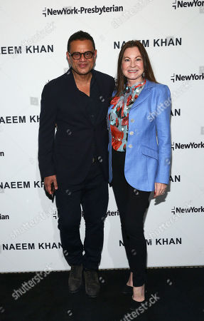 Fashion designer Naeem Khan and Judith Giuliani are pictured together at the NewYork-Presbyterian/Weill Cornell Medical Center Lying-In Luncheon featuring the latest Fall/Winter 2018 Ready-to-Wear collection from Naeem Khan, in New York, to benefit the Department of Obstetrics and Gynecology