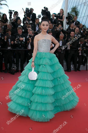 Stock Image of Fan Bing Bing poses for photographers upon arrival at the opening ceremony of the 71st international film festival, Cannes, southern France