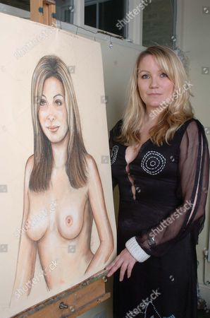Artist Georgea Blakey With Her Portrait Of Tv Presenter Catherine Mcqueen. An Increasing Number Of Women Are Commissioning Artists To Paint Them In The Nude. Femail Asked Four Of Them About Their Paintings. Law Graduate And Tv Presenter Catherine Mcqueen 28 Is Single And Lives In Marylebone Central London. Catherine Says: 'when I Told My Mother A Housewife I Was Haing A Nude Portrait Of Myself Painted She Raised Her Eyes To Heaven. But She's Very Tolerant Of Me And I Know She Will Be Thrilled With The Result. I Think It Is Fantastic To Have A Permanent Image Of Yourself That Is So Beautiful And I Don't Think It Is Salacious In Any Way At All. Georgea Blakey Who Did The Painting Is An Amazing Artist. When She Was Painting Me I Totally Forgot That I Was Nude' We Just Chatted Away. Georgea Painted Me With A Lion (which She Added Afterwards) Because My Birth Sign Is Leo And I Think It Looks Fabulous. I Don't Feel Self-conscious About It Because I Believe My Body Is A Beautiful Thing. Being A Size Ten Is Not Important. I Think Women Should Be Proud Of Their Bodies Whatever Size They Are.' Artist Georgia Blakey With Her Painting Of Tv Presenter Catherine Mcqueen At Home In Clapham.