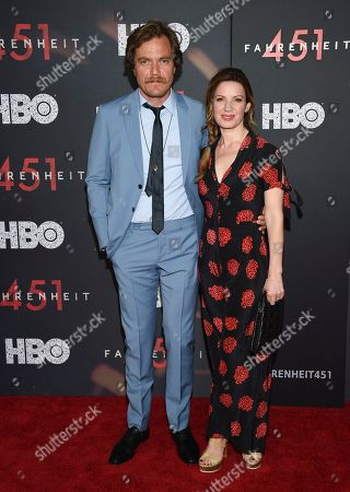 "Michael Shannon, Kate Arrington. Actors Michael Shannon and Kate Arrington attend the premiere of HBO Films' ""Fahrenheit 451"" at the NYU Skirball Center, in New York"
