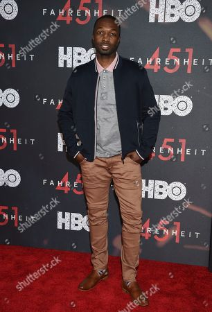 """Jamie Hector attends the premiere of HBO Films' """"Fahrenheit 451"""" at the NYU Skirball Center, in New York"""