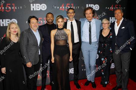 Tara Grace (Sr VP HBO Films), Len Amato (Pres. HBO Films), Michael B. Jordan, Sarah Green (Exec. Producer), Richard Plepler (Chairman, CEO HBO)