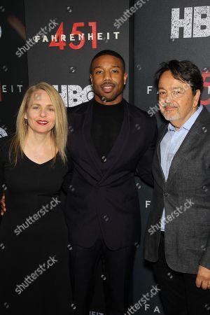 Tara Grace (Sr VP HBO Films), Michael B. Jordan, Len Amato (Pres. HBO Films)