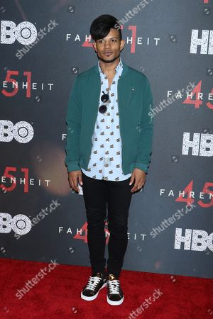 Editorial picture of 'Fahrenheit 451' film premiere, Arrivals, New York, USA - 08 May 2018