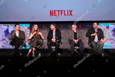 David Gelb, Christina Tosi, Phil Rosenthal, Morgan Neville and David Chang