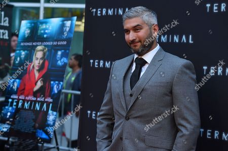 "Director Vaughn Stein arrives at the world premiere of ""Terminal"" on in Los Angeles"