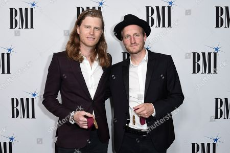 Wesley Schultz, Jeremiah Fraites. Wesley Schultz and Jeremiah Fraites attend the 66th Annual BMI Pop Awards at the Beverly Wilshire Hotel, in Beverly Hills, Calif