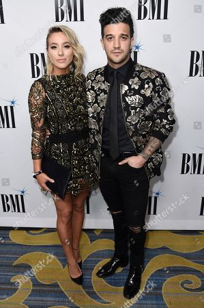 Mark Ballas, B C Jean. Mark Ballas, left, and B C Jean attend the 66th Annual BMI Pop Awards at the Beverly Wilshire Hotel, in Beverly Hills, Calif