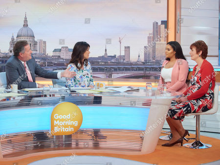 Piers Morgan, Susanna Reid, Lateysha Grace and Sally Jones