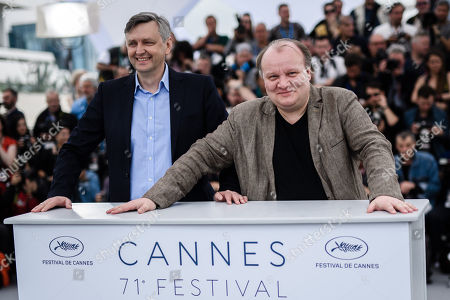 Ukranian director Sergei Loznitsa and Russian actor Boris Kamorzin (R) pose during the photocall for 'Donbass' at the 71st annual Cannes Film Festival, in Cannes, France, 09 May 2018. The movie is presented in the section Un Certain Regard of the festival which runs from 08 to 19 May.