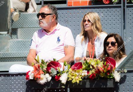 Ion Tiriac watches tennis at the 2018 Mutua Madrid Open
