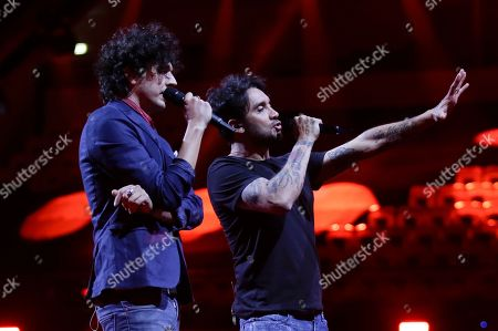 Ermal Meta, Fabrizio Moro. Ermal Meta and Fabrizio Moro from Italy perform the song 'Non Mi Avete Fatto Niente' in Lisbon, Portugal, during a dress rehearsal for the Eurovision Song Contest. The Eurovision Song Contest semifinals take place in Lisbon on Tuesday, May 8 and Thursday, May 10, the grand final on Saturday May 12, 2018