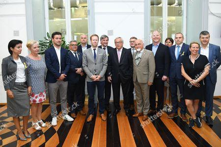 Editorial photo of Jean-Claude Juncker visits the Flemish parliament, Belgium - 09 May 2018