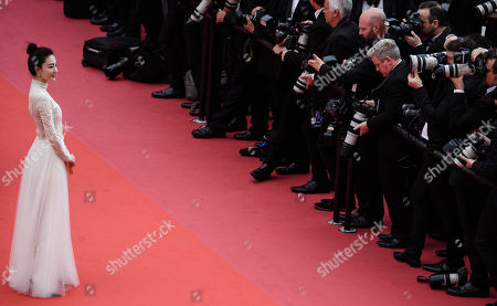 Stock Image of Wang Likun arrives for the screening of 'Yomeddine' during the 71st annual Cannes Film Festival, in Cannes, France, 09 May 2018. The movie is presented in the Official Competition of the festival which runs from 08 to 19 May.