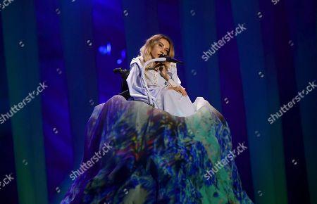 Julia Samoylova of Russia performs the song 'I Won't Break'