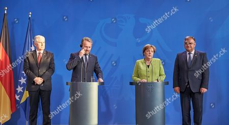 Dragan Covic; Bakir Izetbegovic; Mladen Ivanic; Angela Merkel