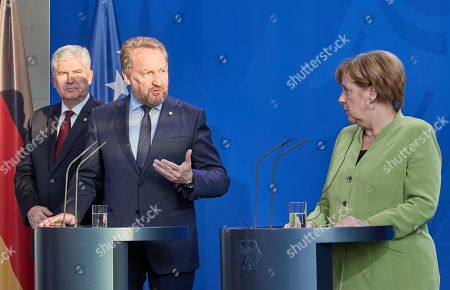 Bakir Izetbegovic; Dragan Covic; Angela Merkel