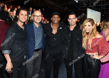 Stock Photo of Singer/Songwriters Steve Moakler, Luke Laird, Jimmie Allen, Devin Dawson and Lindsay Ell.