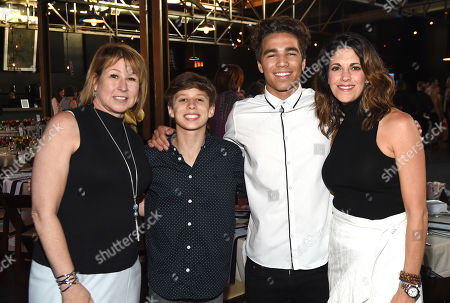 Stock Photo of CMA CEO Sarah Trahern, CB30's Brody Clementi & Christian Clementi with Red Light Mangement KP Entertainment's Kerri Edwards