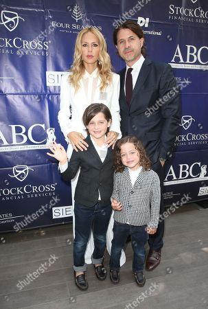 Rachel Zoe and Rodger Berman With Skyler and Kaius Berman