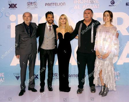 Fenando Lujan, Eugenio Derbez, Anna Fist, Jesus Ochoa y Cecilia