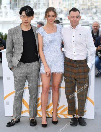 Stock Image of Teo Yoo, Irina Starshenbaum and Roma Zver