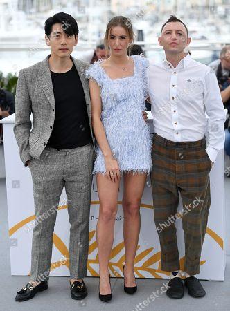 Stock Photo of Teo Yoo, Irina Starshenbaum and Roma Zver