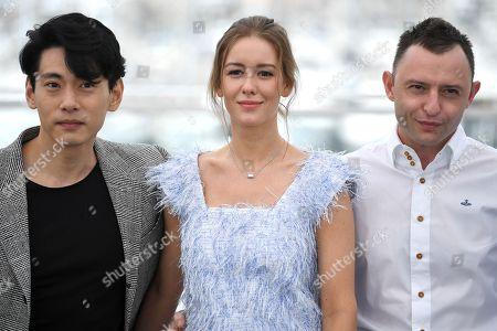 Teo Yoo, Irina Starshenbaum and Roma Zver