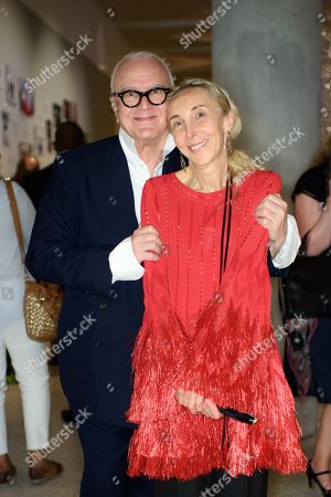 Stock Photo of Manolo Blahnik and Franca Sozzani