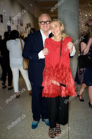 Stock Picture of Manolo Blahnik and Franca Sozzani