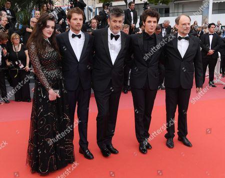 Adele Wismes, Pierre Deladonchamps, Christophe Honore, Vincent Lacoste and Denis Podalydes