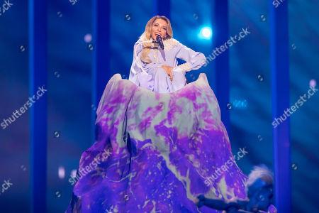 Julia Samoylova of Russia is performing her song 'I Won't Break!'
