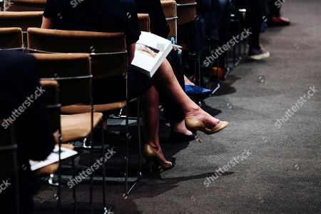 People attend the sales event of The Collection of Peggy and David Rockefeller at Christie's auction house in New York, New York, USA, 09 May 2018. The artwork is part of the 'Collection of Peggy and David Rockefeller: 19th and 20th Century Art Evening Sale' that will place in New York from 08 to 10 May 2018.
