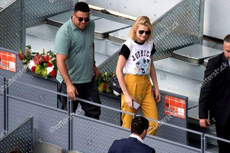 Ronaldo Nazario and his girlfriend Celina Locks