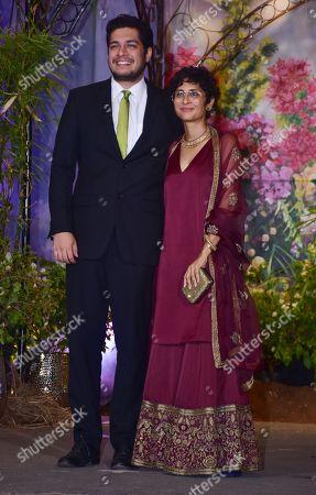 Actor Junaid Khan with mom Kiran Rao