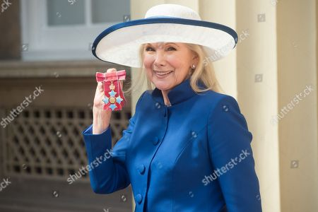 Actress Susan Hampshire receives a CBE for services to drama and to charity