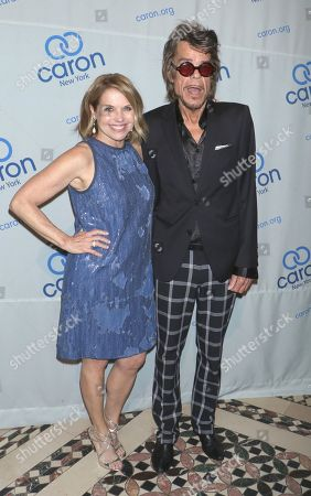 Stock Image of Katie Couric and David Johansen