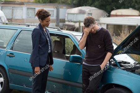(Ep 4) - Angel Coulby as DI Cathy Hudson and Lee Ingleby as David Collins.