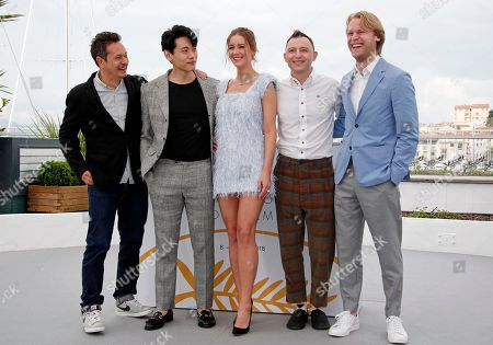 (L-R) Director of Photography Vladislav Opeliants, German actor Teo Yoo, Russian actress Irina Starshenbaum, Russian actor Roma Zver and Producer Ilya Stewart pose during the photocall for 'Leto' at the 71st annual Cannes Film Festival, in Cannes, France, 10 May 2018. The movie is presented in the Official Competition of the festival which runs from 08 to 19 May.