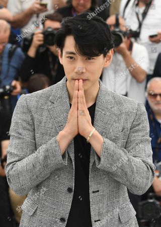 Actor Teo Yoo poses for photographers during a photo call for the film 'Leto' at the 71st international film festival, Cannes, southern France